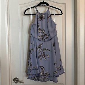 Tularosa lavender floral halter dress